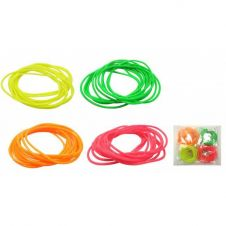 Neon Gummy Bangles (Pack of 12)