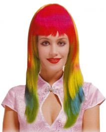 Rainbow Neon Layered Wig