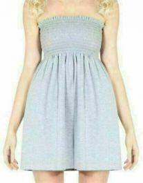 New Women's Sheering Boob Ladies Vest Top Grey colour
