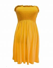 New Women's Sheering Boob Ladies Vest Top Mustard colour
