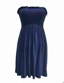New Women's Sheering Boob Ladies Vest Top Navy Blue colour