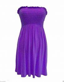 New Women's Sheering Boob Ladies Vest Top Purple colour