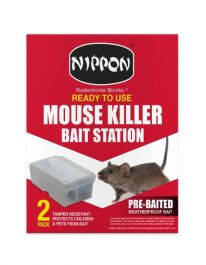 Nippon Ready To Use Mouse Killer Station - Pack 2