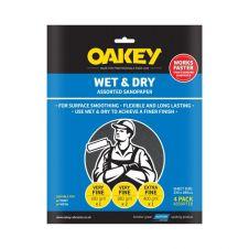 Norton Oakey Flexible Wet & Dry Paper - 275 x 225mm - Assorted (1 x C, 2 x M, 1 x F)