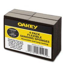 Oakey Black Flexible Sanding Sponges - Coarse 60g/Very Coarse 36g Pack 4