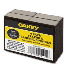 Oakey Black Flexible Sanding Sponges - Fine 100g/Coarse 60g Pack 4