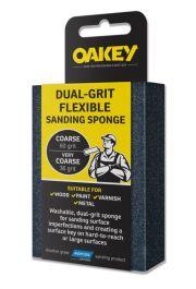 Oakey Dual-Grit Flexible Sanding Sponge - 90 x 65 x 25mm - Coarse/Very Coarse