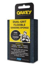 Oakey Dual-Grit Flexible Sanding Sponge - 90 x 65 x 25mm - Fine/Coarse