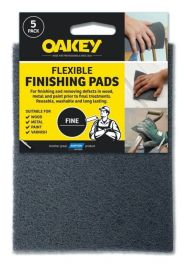 Oakey Flexible Finishing Pads - Grey Pack 5