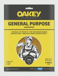 Oakey General Purpose Sandpaper 5 Pack - Fine 280 x 230mm
