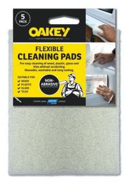 Oakey Hand Abrasive Cleaning Pad - White Pack 5
