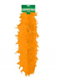 Orange Feather Boa High Quality
