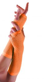 Orange Long Fishnet Gloves (Dozen)