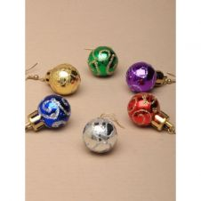 Pair of Glitter Christmas Bauble Drop earrings