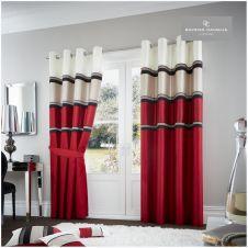 PANAMA DOOR CURTAIN RED