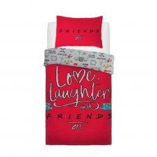 PANEL DUVET SET FRIENDS LOVE LAUGHTER