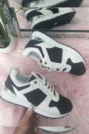 Panelled Sporty Trainer Black