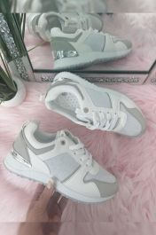 Panelled Sporty Trainer Grey