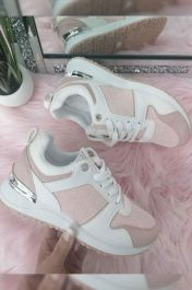 Panelled Sporty Trainer Pink