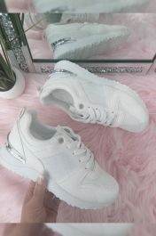 Panelled Sporty Trainer White