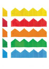 Paper Party Cracker Hats 5 Assorted Colours