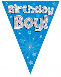 Party Bunting Birthday Boy Blue 11 flags 3.9m