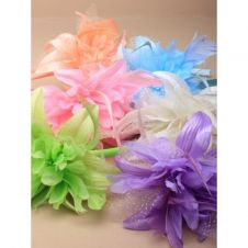 Pastel Feather Flower Fascinator