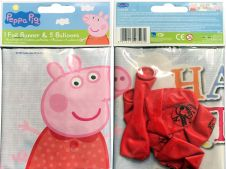 Peppa Pig Balloon & Banner