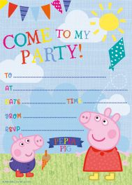 Peppa Pig Invites with Envelopes