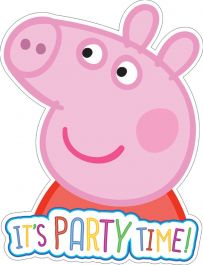 Peppa Pig Invites with Envelopes (Pack of 6)