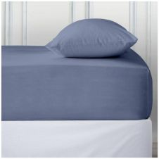 PERCALE DEEP FTD SHEET BLUE