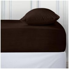 PERCALE DEEP FTD SHEET CHOCO