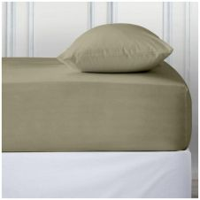 PERCALE DEEP FTD SHEET DUCK EGG