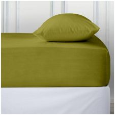PERCALE DEEP FTD SHEET GREEN