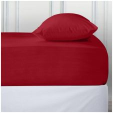 PERCALE DEEP FTD SHEET RED