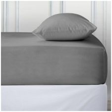 PERCALE DEEP FTD SHEET SILVER