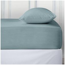 PERCALE DEEP FTD SHEET SORBET BLUE