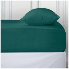 PERCALE DEEP FTD SHEET TEAL