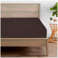 PERCALE FITTED SHEET CHOCO