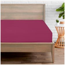 PERCALE FITTED SHEET FUCHSIA