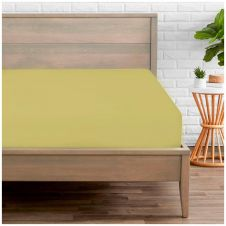 PERCALE FITTED SHEET GREEN