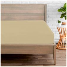 PERCALE FITTED SHEET NATURAL