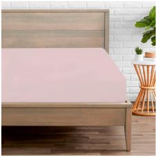 PERCALE FITTED SHEET PINK