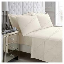 PERCALE FLAT SHEET CREAM