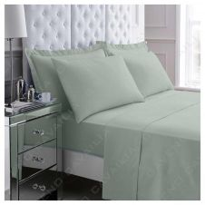 PERCALE FLAT SHEET DUCK EGG