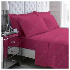 PERCALE FLAT SHEET FUCHSIA