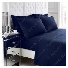 PERCALE FLAT SHEET NAVY