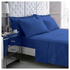 PERCALE FLAT SHEET ROYAL BLUE