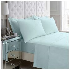 PERCALE FLAT SHEET SORBET BLUE