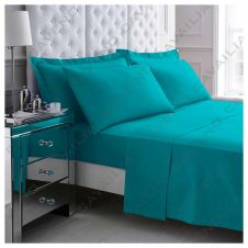 PERCALE FLAT SHEET TEAL